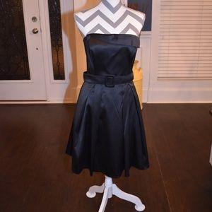 NWT White House Black Market Black Strapless Dress